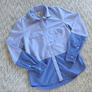J. Crew Color Block Button Down Boy Shirt Size 2